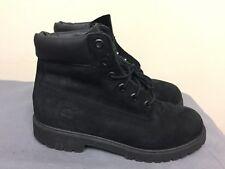 Timberland Hiking Trail Black Nubuck Boots 12907 Boys Size US 6 EU 39 UK 5.5