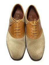 Florsheim Men's Walnut/Beige Duckie Brown Leather/Suede Saddle Oxford's Size 8 D