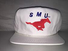 Vtg SMU Southern Methodist University Mustangs Strapback hat cap rare 90s NCAA