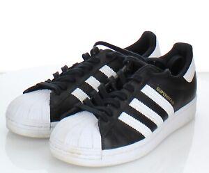 62-19 $80 Women's Sz 8 M Adidas Superstar Low Sneaker In Black /White