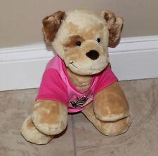 "Build a Bear Brown Puppy Dog Plush Stuffed Animal ""12 Pink Super Girl"