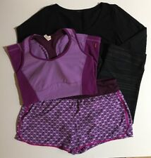Gap Fabletics Lucy Athletic Workout Clothes Lot of 4 MultiColor Solid Med