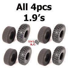All 4pcs 1.9 Axial Maxxis Trepador tires with foams r/c rock crawler Free Ship!!