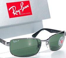 e63895bb78d05 NEW  Ray Ban Gunmetal   Black w POLARIZED GREEN G15 Lens Sunglass RB 3478  004