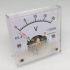 Us Stock Ac 0 20v Square Analog Volt Pointer Needle Panel Meter Voltmeter 91l4