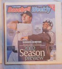 2002 USA TODAY BASEBALL WEEKLY MLB PREVIEW MO VAUGHN METS & JASON GIAMBI YANKEES