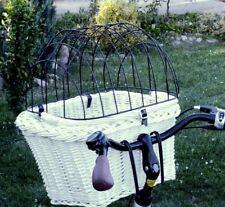 Hundefahrradkorb Lenkerkorb Radkorb Tierkorb Hundekorb Hund vorne Weide Gitter