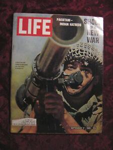 LIFE September 17 1965 Kashmir Jules Feiffer Albert Schweitzer Robert Manry