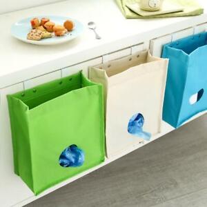 Cupboard Garbage Hanging Storage Bag Waterproof Sack Holder Organizer with Hook