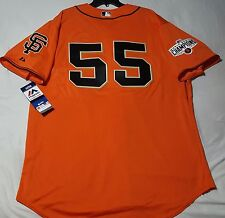 Authentic Majestic, 52 2XL, SAN FRANCISCO GIANTS TIM LINCECUM COOL BASE Jersey