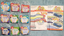 1999 McDonalds Happy Meal Toys  HOT WHEELS  Complete Mint Set (8) + U-3 + 8 Bags