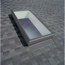 """22.5"""" x 46"""" Fixed Mount Skylight Tempered Low E3 Glass Argon Filled Dual Panes"""