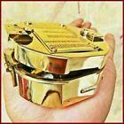 Maritime Antique Brass Vintage Brunton Compass Nautical Direction Handmade Gift