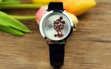 Ladies / Childs  Stunning One and Only Gold Mickey Mouse  Watch Black Strap