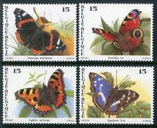 BUTTERFLIES**4vals-Belgium-PAPILLONS-Mariposas-Schmetterlinge-Vlinders-1993-MNH
