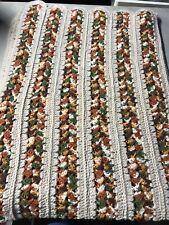 Vintage Handmade Afghan Throw Blanket 60 X 48 Multi Color Stripe