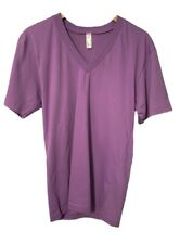American Apparel Purple Cotton Organic V-Neck T-Shirt Small and Medium