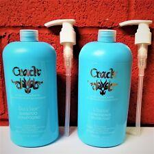 CRACK LITER DUO: CLEAN & SOAPER SHAMPOO + IN TREATMENT CONDITIONER + PUMPS!