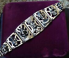 Vintage Enamel African Blackamoor Tribal Bracelet (Bx011)