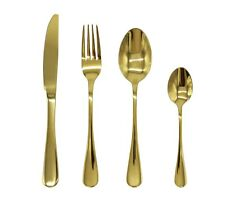 Stainless Steel Cutlery Sets Gold Spoons Forks 8/16/24/32 piece set Dinner Set