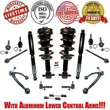 Control Arms Steering Suspension Chassi Kit + Complete Struts & Spring + Shocks