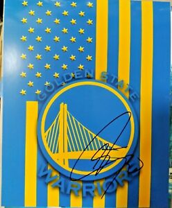 STEPHEN CURRY SIGNED CUSTOM EDIT GOLDEN STATE WARRIORS LOGO 8X10 PHOTO PROOF PIC