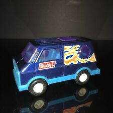 VTG BUDDY L BUTE Metallic Blue Flame Van Pressed Steel Plastic 1970s Loose Mint