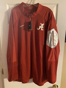 Nike Dri-Fit Alabama 1/4 Zip Jacket Player Team Issued 3XL New