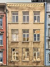 """*O Scale Scratch Built """"APARTMENT #7"""" Building Front Flat MTH Lionel NEW!"""