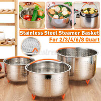 3-8L Stainless Steel Steamer Basket Rice Pressure Cooker Fruit Cleaning Drainer