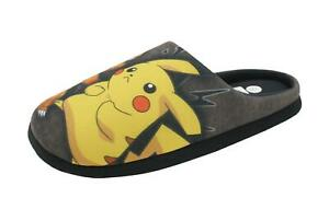 Mens Pokemon Pikachu and Charmander Huxley Slippers