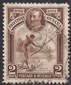 British Guiana 1931 KGV 2ct Shooting Fish used SG 284 ( K619 )