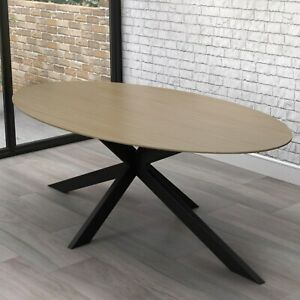 Carson Light Oak Oval Dining Table- Seats 6