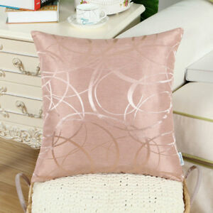 "CaliTime Throw Pillows Covers Both Sides Modern Circles Rings Sofa Decor 20x20"""