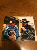 RICHARD PETTY DARRELL WALTRIP SIGNED AUTOGRAPHED 8X10 PHOTO NASCAR HALL OF FAME