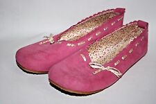 George Designer Ladies Woman's Pink Suede Feel Fabric Flats Boots 5 UK 38 EU