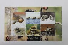 FOGLIETTO ANIMALI MALAWI ANNO 2011 ANIMALS ZEBRE LUPI