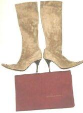 Bottega Veneta Women's Boot Knee High Stiletto Suede Tan Size 37