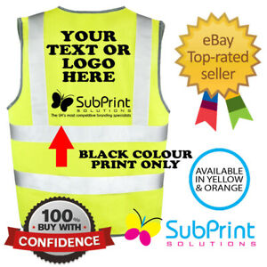 Custom Workwear Personalised Printed Hi Vis, Hi Viz Safety Vest,