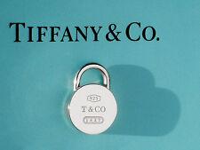 Tiffany & Co Argento Sterling Charm Lucchetto Rotondo 1837 solo