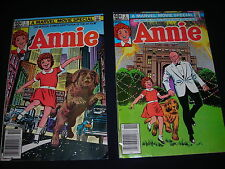 Annie Official Marvel Comic of Hit Film/Movie #1 & 2 Complete Two Issue Series