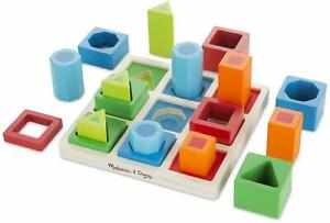 Melissa & Doug SHAPE SEQUENCE SORTING SET Educational Childrens Wooden Toy 3yrs+