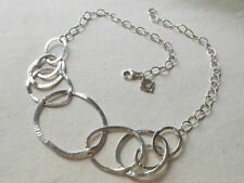 Silpada Sterling Silver Bib Necklace Pop the Bubbly  N2450  $179 Circle Link