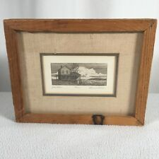 Gerald Lubeck Engraving Framed Country House Jons Place Signed Numbered 46/125