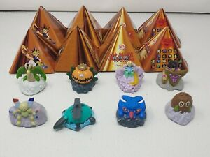 Lot of 8 Boxed 2004 Yugioh The Movie Burger King Pyramids and 8  Figures Nice!