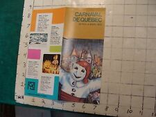 HIGH GRADE Vintage brochure: CARNAVAL DE QUEBEC 1973