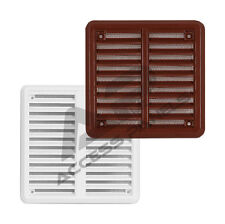 Air Vent Grille Covers Louvre Ventilation Grill Cover >ALL SIZES< White & Brown