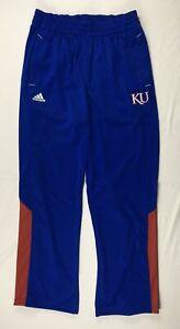 Kansas Jayhawks adidas Athletic Pants Men's Blue Poly NEW Multiple Sizes