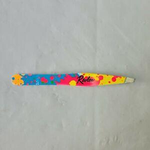 Revlon Slant Tip Tweezer Rainbow Assorted Color DMG PKG Rare Free Shipping