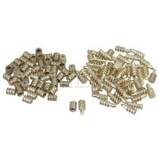 50 Pieces Gold Dining Table Top Leaf Alignment Pins with Sockets 8x20mm